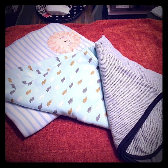 NWT Janie /& and Jack Lion White Boy/'s Reversible Blanket